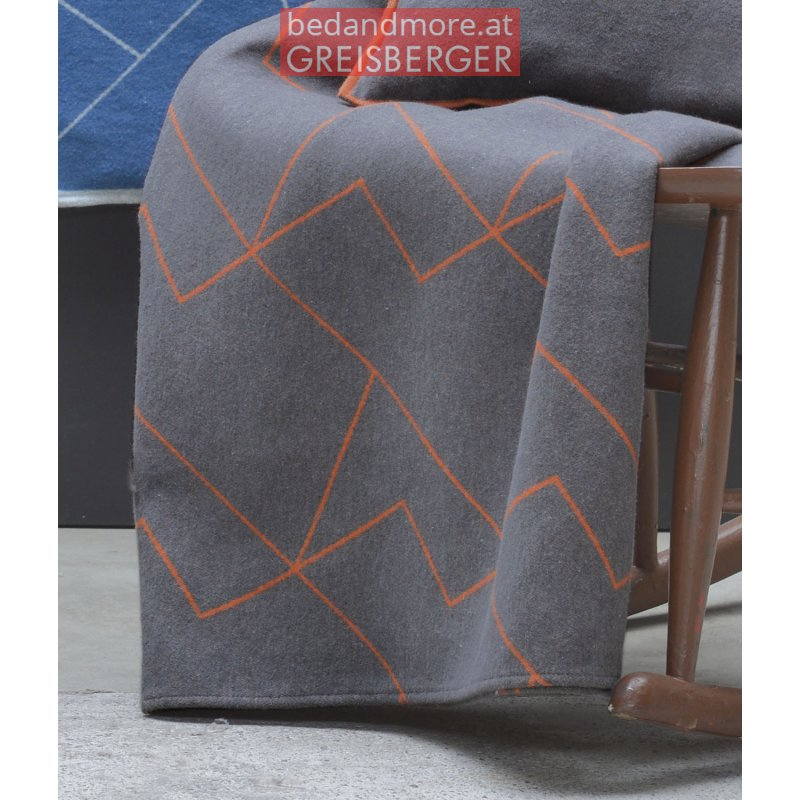 david fussenegger decke luca linear 140x200 cm grau. Black Bedroom Furniture Sets. Home Design Ideas