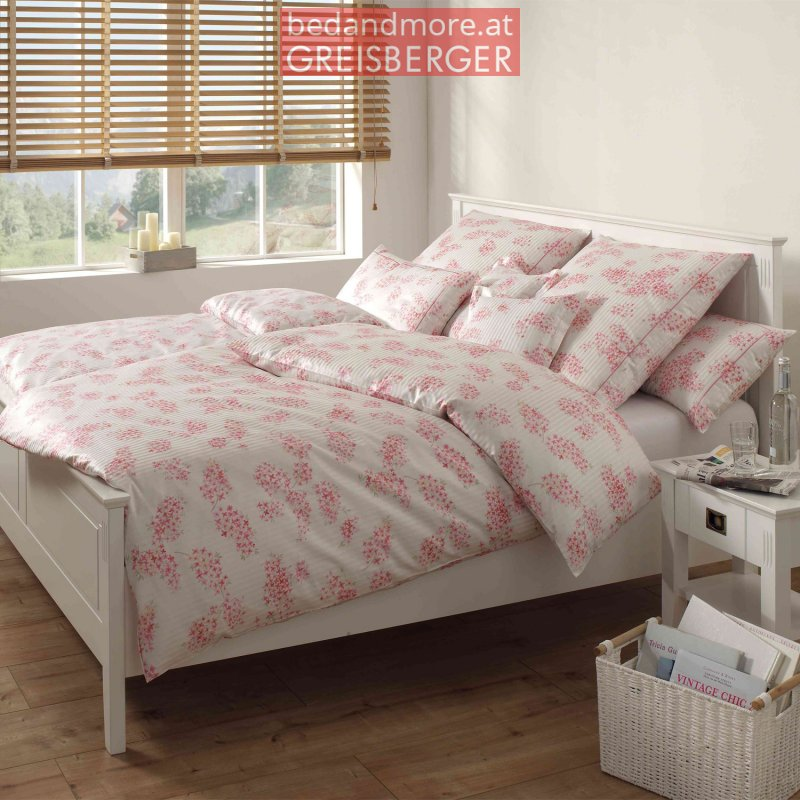 elegante bettw sche etienne design 2121 pink rose 140x200 70x. Black Bedroom Furniture Sets. Home Design Ideas