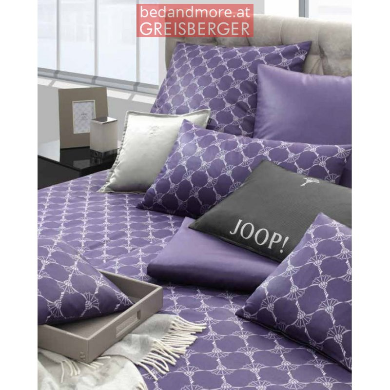 joop bettw sche mako satin 4059a 55 140x200cm violett. Black Bedroom Furniture Sets. Home Design Ideas